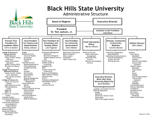 Black Hills State University Administrative Structure