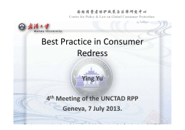 Best Practice in Consumer Redress Ying Yu 4