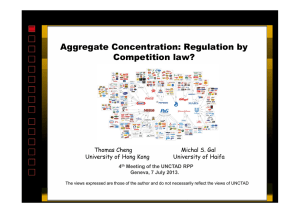 Aggregate Concentration: Regulation by Competition law?