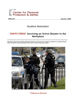 Student Notetaker SHOTS FIRED! Surviving an Active Shooter in the
