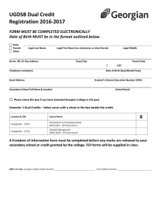 UGDSB Dual Credit Registration 2016-2017  FORM MUST BE COMPLETED ELECTRONICALLY