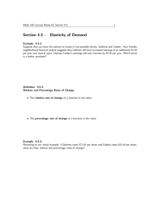 Section 4.5 - Elasticity of Demand