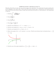 MATH 152 Activity 2 (Sections 6.5 and 7.1)
