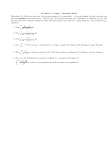 MATH 152 Activity 7 (Section 8.4-8.9)