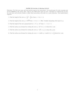 MATH 152 Activity 8 (Section 9.3-9.4)