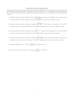 MATH 152 Activity 10 (Section 10.3)