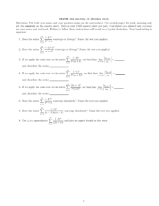 MATH 152 Activity 11 (Section 10.4)