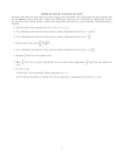 MATH 152 Activity 13 (Section 10.7-10.9)