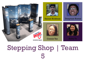 Stepping Shop | Team 5 + Sairam Krishnan