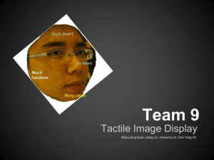 Team 9 Tactile Image Display So wowe Such smart