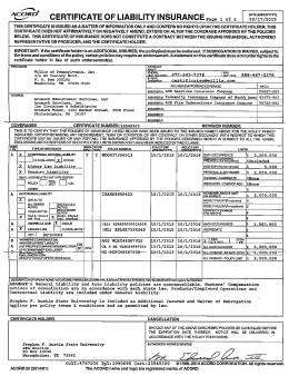 CERTIFICATE OF INSURANCE CONSTRUCTION CONTRACTS Date Cert.
