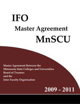 IFO  MnSCU  Master Agreement