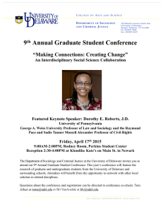 "Annual Graduate Student Conference 9 ""Making Connections: Creating Change"""