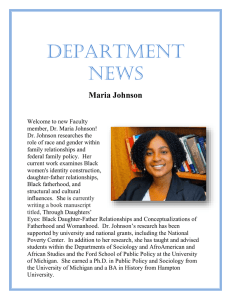 DEPARTMENT  NEWS Maria Johnson