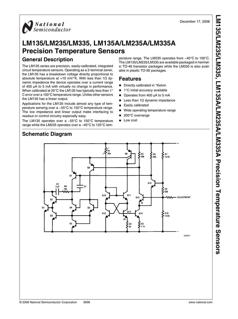 NS LM335H CAN Precision Temperature Sensors