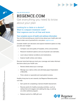 Regence.com Get everything you need to know about your plan