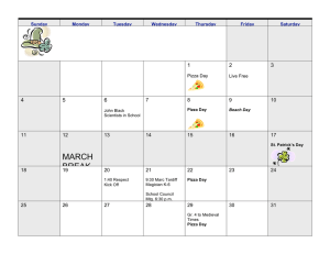 March 2012 MARCH BREAK