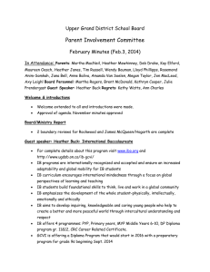 Parent Involvement Committee Upper Grand District School Board February Minutes (Feb.3, 2014) :