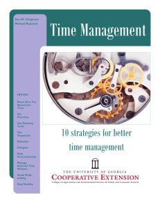 Time Management 10 strategies for better time management