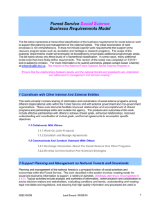 Forest Service Business Requirements Model Social Science