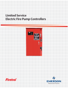 Limited Service Electric Fire Pump Controllers