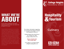 Hospitality Culinary College Heights
