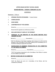 UPPER GRAND DISTRICT SCHOOL BOARD  – TUESDAY, FEBRUARY 28, 2012 BOARD MEETING