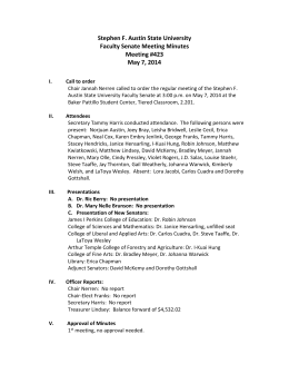 stephen f austin state university faculty senate meeting minutes