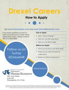 Drexel Careers How to Apply