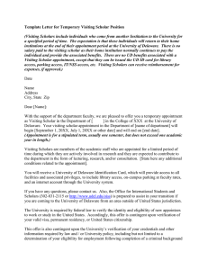 Template Letter for Temporary Visiting Scholar Position