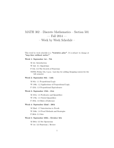 MATH 302 – Discrete Mathematics – Section 501