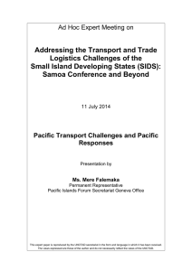 Addressing the Transport and Trade Logistics Challenges of the