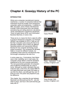 Chapter 4: Gossipy History of the PC