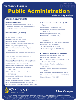 Public Administration Dream The Master's Degree in Offered Fully Online!