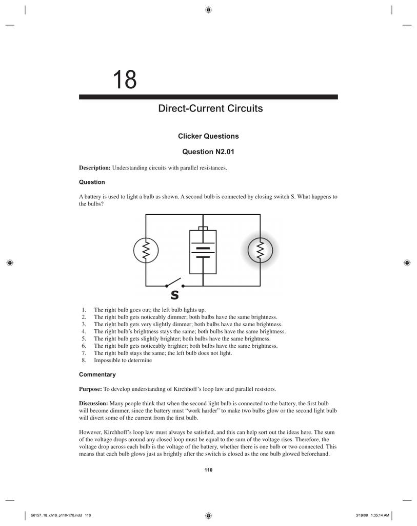18 direct current circuits clicker questions question n2 01 rh studylib net