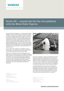 Desiro HC – a good start for the new platform