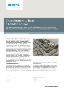 Transformers to heat a London school