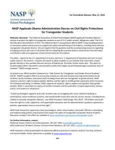 NASP Applauds Obama Administration Decree on Civil Rights Protections