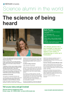 The science of being heard  Beth Poulter