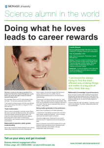 Doing what he loves leads to career rewards love of science