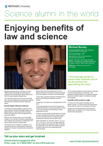 Enjoying benefits of law and science joy of it