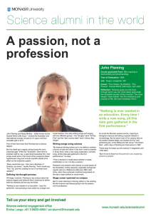 A passion, not a profession John Fleming