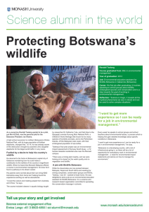 Protecting Botswana's wildlife