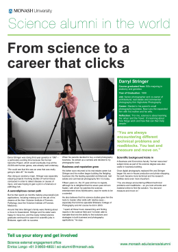 From science to a career that clicks that clicks