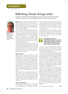 Rethinking climate change action in perspective