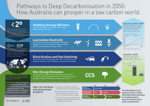 Pathways to Deep Decarbonisation in 2050: Ambitious Energy Efficiency