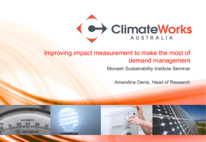 Improving impact measurement to make the most of demand management