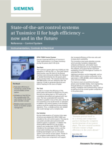 State-of-the-art control systems at Tusimice II for high efficiency –