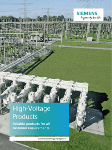 High-Voltage Products Reliable products for all customer requirements