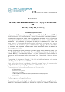 JHIL A Century after Russian Revolution: Its Legacy in International Law